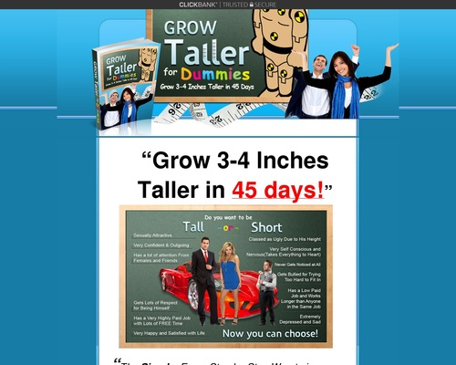 Grow Taller For Dummies™ – How To Grow Taller & How to Increase Height in the next 45 days